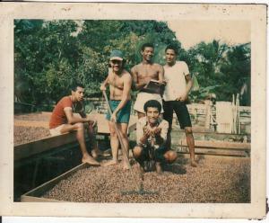 Cosechas abundante Lugar: Puerto Viejo centro Fecha: 1975 Personas: Mauricio Salazar, Arturo; Papito Bryant Colaborador: Mauricio Salazar Salazar